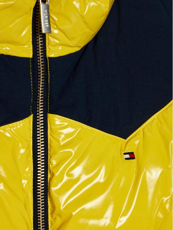 Tommy Hilfiger Tommy Hilfiger Kurtka puchowa Shiny Yoke Puffer KG0KG05384 D Żółty Regular Fit