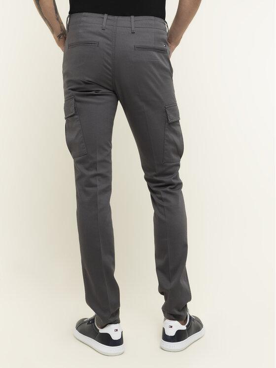 Tommy Hilfiger Tommy Hilfiger Spodnie materiałowe Bleecker Cargo MW0MW12593 Szary Slim Fit