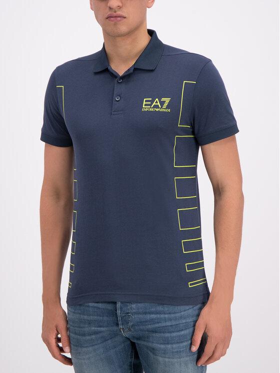 EA7 Emporio Armani EA7 Emporio Armani Polo marškinėliai 3GPF78 PJ02Z 1554 Tamsiai mėlyna Regular Fit