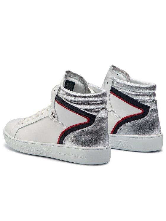 Tommy Hilfiger Tommy Hilfiger Sneakersy Mid Iconic Sneaker FW0FW03973 Bílá