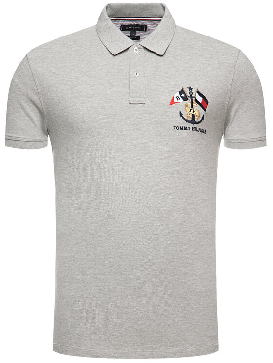 Tommy Hilfiger Tommy Hilfiger Polo Crest Embroidery MW0MW12402 Γκρι Regular Fit