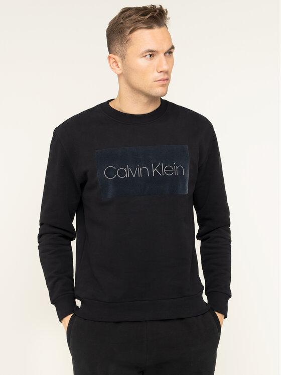 Calvin Klein Calvin Klein Džemperis Block Logo K10K105116 Juoda Regular Fit