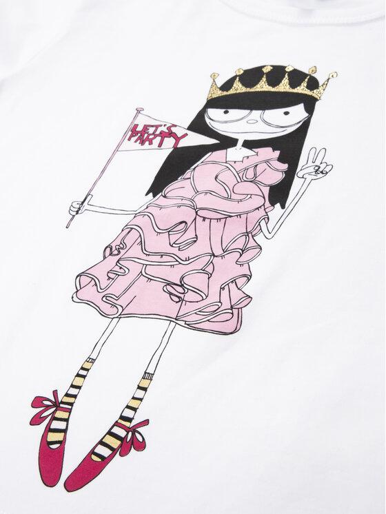 Little Marc Jacobs Little Marc Jacobs T-Shirt W15484 S Biały Regular Fit