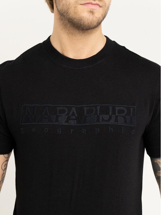 Napapijri Napapijri Тишърт Serber N0YIWZ Черен Regular Fit