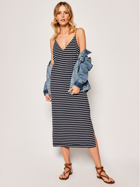 Seafolly Seafolly Φόρεμα καλοκαιρινό Vacay 53875-DR Σκούρο μπλε Regular Fit
