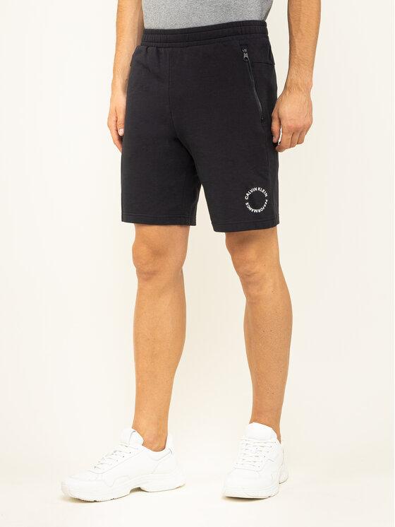 Calvin Klein Performance Calvin Klein Performance Bavlnené šortky 00GMF9S865 Čierna Regular Fit