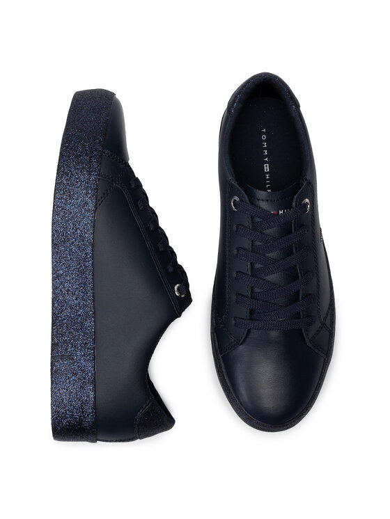 Tommy Hilfiger Tommy Hilfiger Сникърси Corporate Crystal Dress Sneaker FW0FW04296 Тъмносин