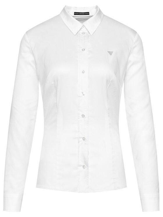 Guess Guess Koszula Cate W1RH41 WAF10 Biały Slim Fit