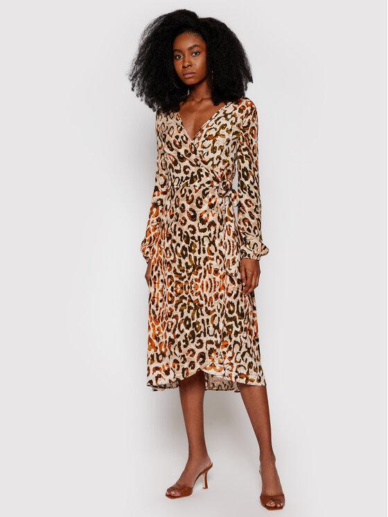 Guess Guess Sukienka codzienna W1RK85 WDDE0 Brązowy Regular Fit