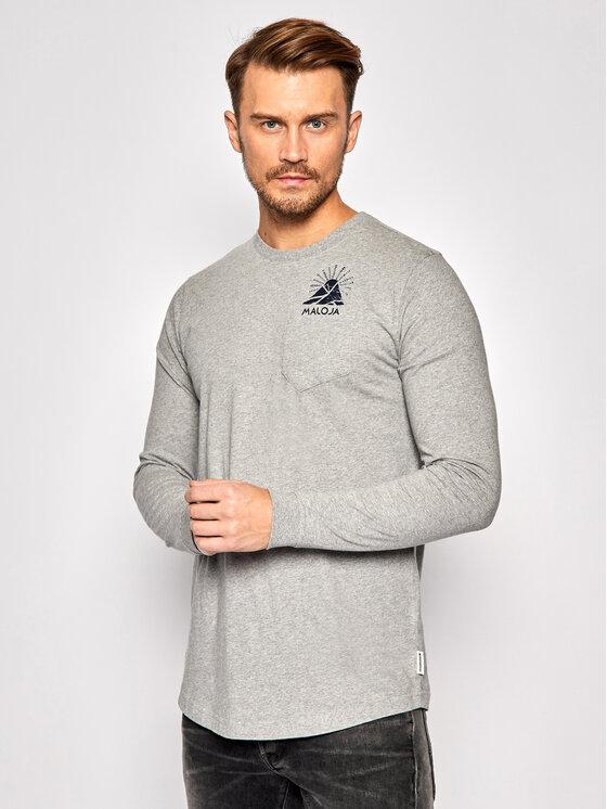 Maloja Marškinėliai ilgomis rankovėmis LegshomM 30508-1-7096 Pilka Relaxed Fit