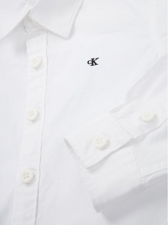 Calvin Klein Jeans Calvin Klein Jeans Chemise Essential Poplin Shirt IB0IB00366 Blanc Regular Fit