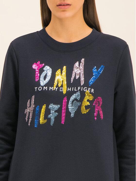 Tommy Hilfiger Tommy Hilfiger Mikina Roxy C-NK WW0WW26670 Tmavomodrá Regular Fit