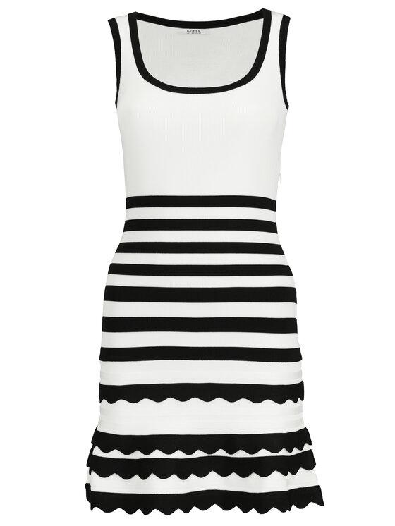 Guess Guess Úpletové šaty W92K1A Z2CY0 Biela Slim Fit