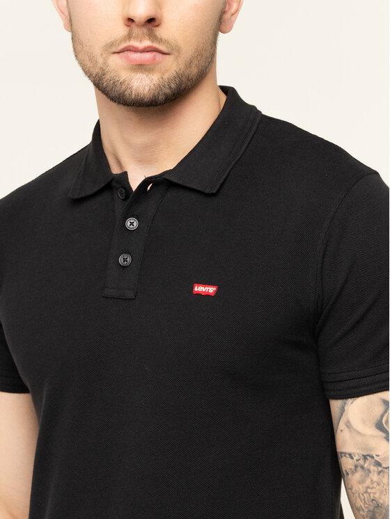 Levi's® Levi's® Polohemd Housemark 22401-0080 Schwarz Regular Fit