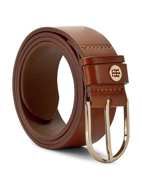 Tommy Hilfiger Tommy Hilfiger Curea de Damă Classic Dbl Loop TH Coin Belt 3,5 AW0AW03773 Maro