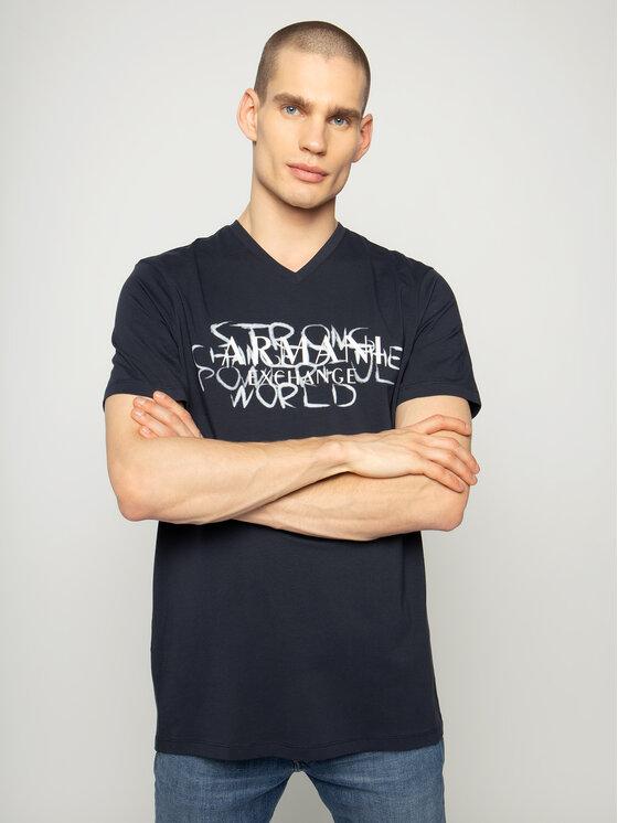 Armani Exchange Armani Exchange T-shirt 3HZTFN ZJE6Z 1510 Blu scuro Slim Fit