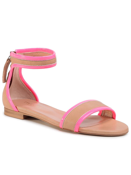 TWINSET Basutės Sandalo 201TCP014 Ruda