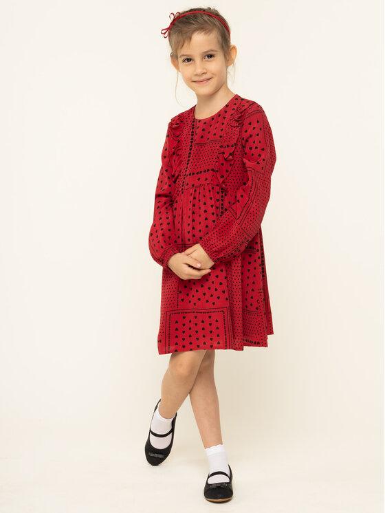 Liu Jo Kids Kasdieninė suknelė K69001 T5609 Raudona Regular Fit