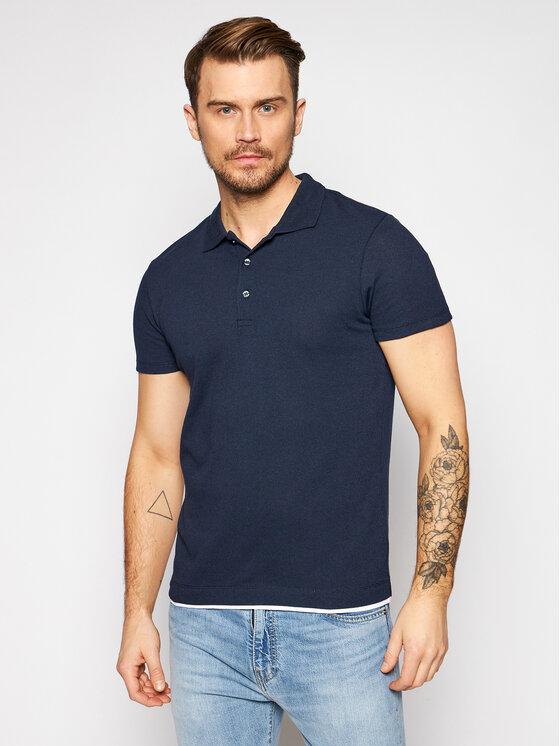 Jack&Jones PREMIUM Polo marškinėliai Blajude 12186161 Tamsiai mėlyna Regular Fit