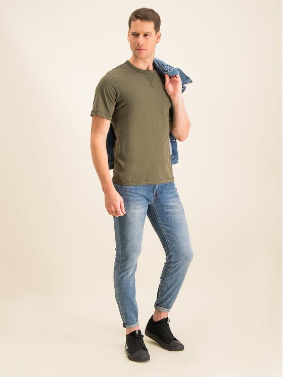 Calvin Klein Jeans Calvin Klein Jeans Tricou Monogram Logo J30J314051 Verde Regular Fit
