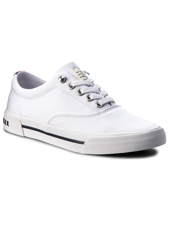 TOMMY HILFIGER TOMMY HILFIGER Scarpe sportive Heritage Textile Sneaker FW0FW02797 Bianco