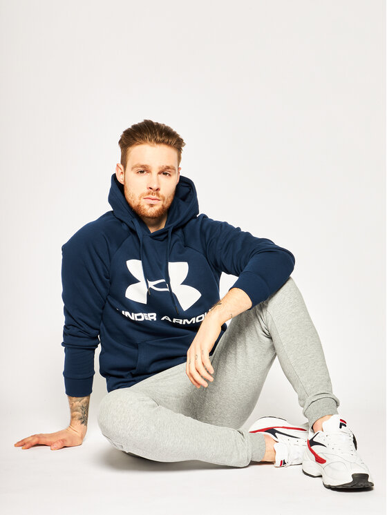 Under Armour Under Armour Суитшърт UA Rival 1345628 Тъмносин Regular Fit
