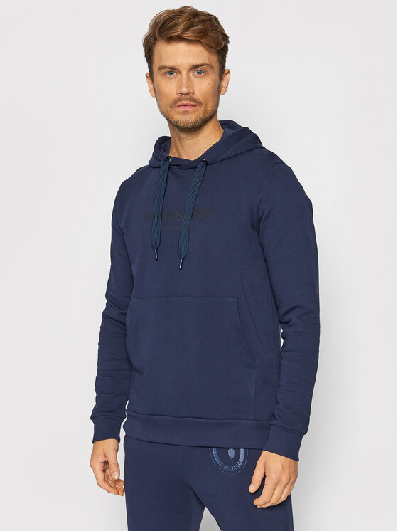 Trussardi Džemperis 52F00176 Tamsiai mėlyna Regular Fit