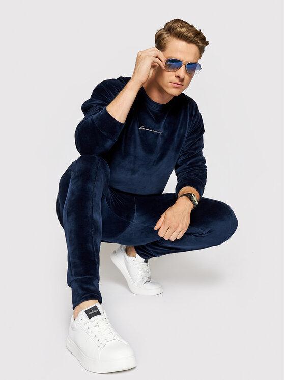 LaManuel Sportinis kostiumas Velour Swag Set Tamsiai mėlyna Regular Fit