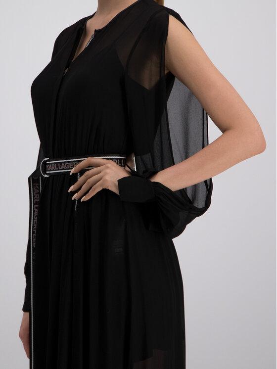 KARL LAGERFELD KARL LAGERFELD Večerní šaty 91KW1313 Černá Regular Fit
