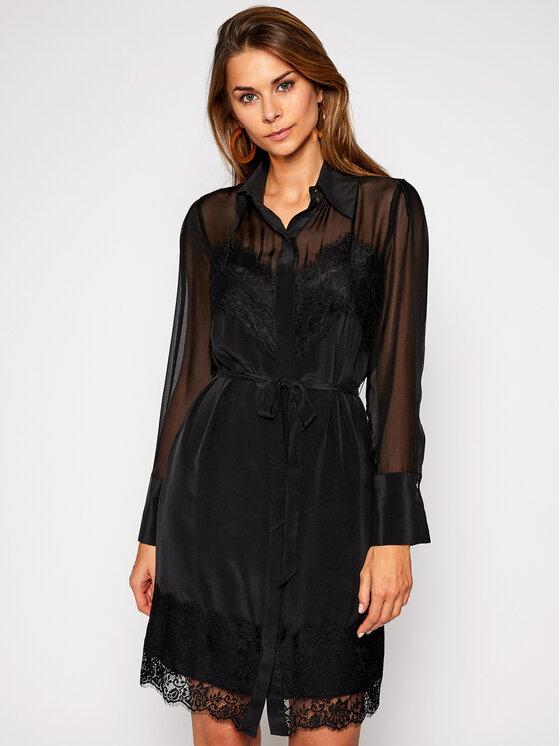 Marciano Guess Sukienka koszulowa Precious Lace 0BG758 9394Z Czarny Regular Fit