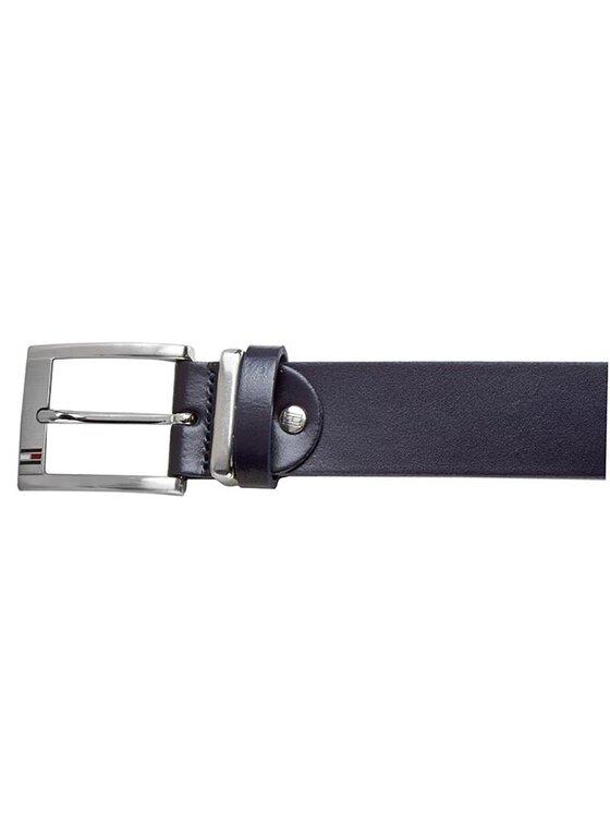 Tommy Hilfiger Tommy Hilfiger Pánský pásek Mick Belt 3.5 Adjustable BM56927538 Tmavomodrá