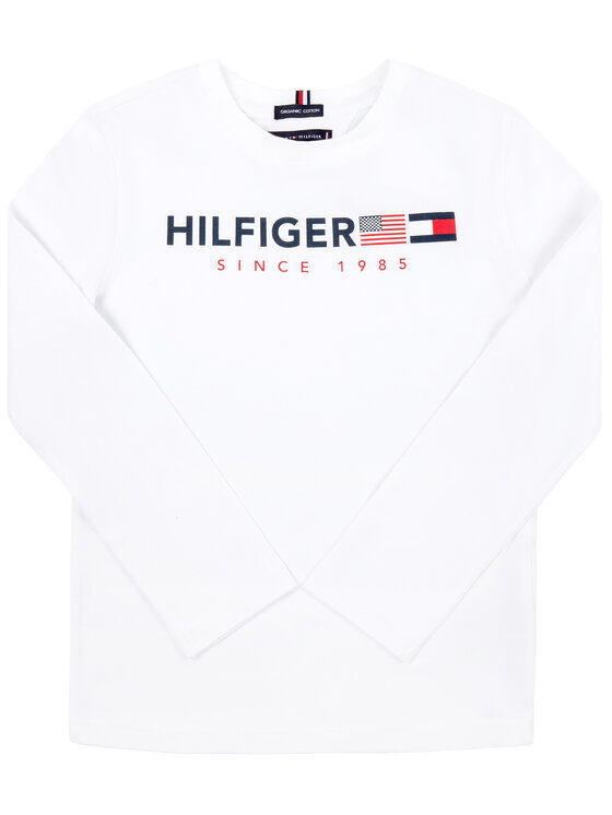 Tommy Hilfiger Tommy Hilfiger Bluză KB0KB04997 D Alb Regular Fit