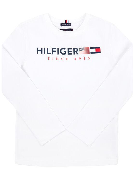 TOMMY HILFIGER TOMMY HILFIGER Μπλουζάκι KB0KB04997 D Λευκό Regular Fit