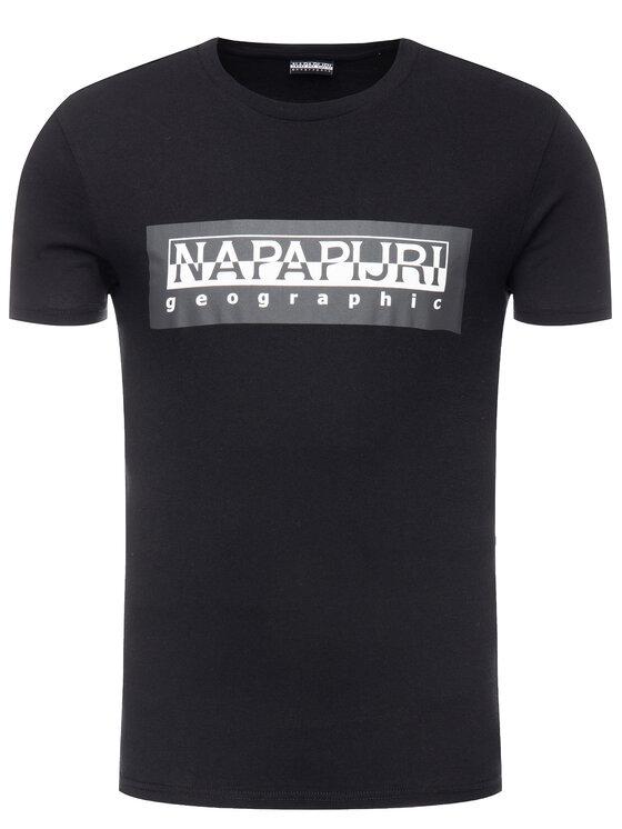 Napapijri Napapijri T-Shirt Sele N0YIEI Černá Regular Fit