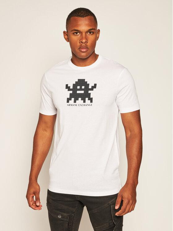 Armani Exchange Armani Exchange T-Shirt 6HZTFD ZJH4Z 1100 Bílá Regular Fit