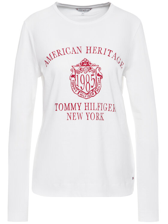 Tommy Hilfiger Tommy Hilfiger Bluză Ozlem WW0WW26186 Alb Regular Fit