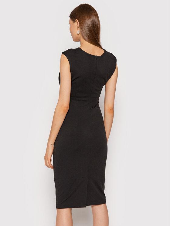 Rinascimento Rinascimento Sukienka koktajlowa CFC0104349003 Czarny Slim Fit