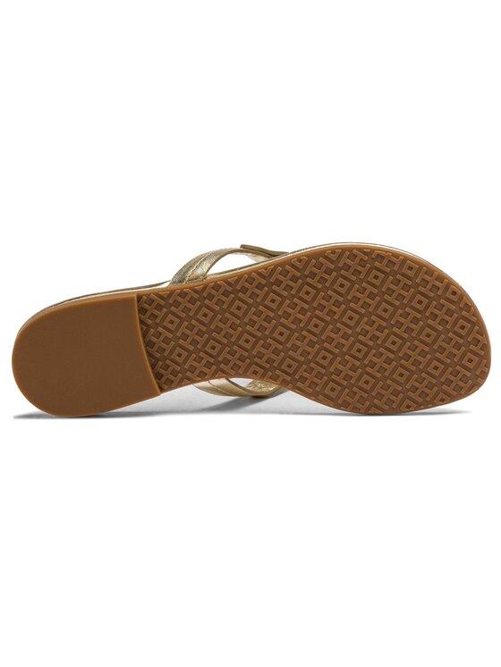 Tory Burch Tory Burch Джапанки Miller Scallop Sandal 51865 Златист