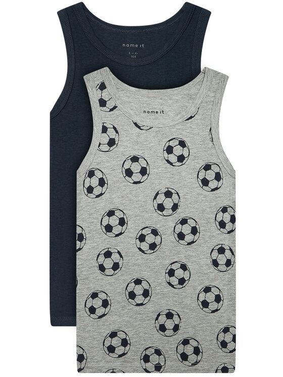NAME IT 2 marškinėlių komplektas 13173289 Pilka Slim Fit