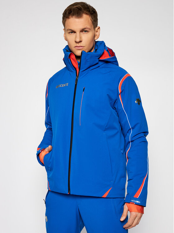 Descente Slidinėjimo striukė Isak DWMQGK15 Mėlyna Tailored Fit