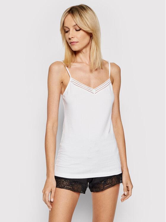 Femilet by Chantelle Apatiniai marškinėliai Nova FN4680 Balta Slim Fit