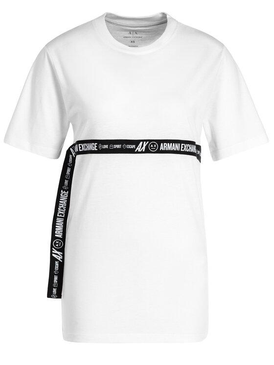 Armani Exchange Armani Exchange T-shirt 6GYTED YJX9Z 1000 Bianco Regular Fit