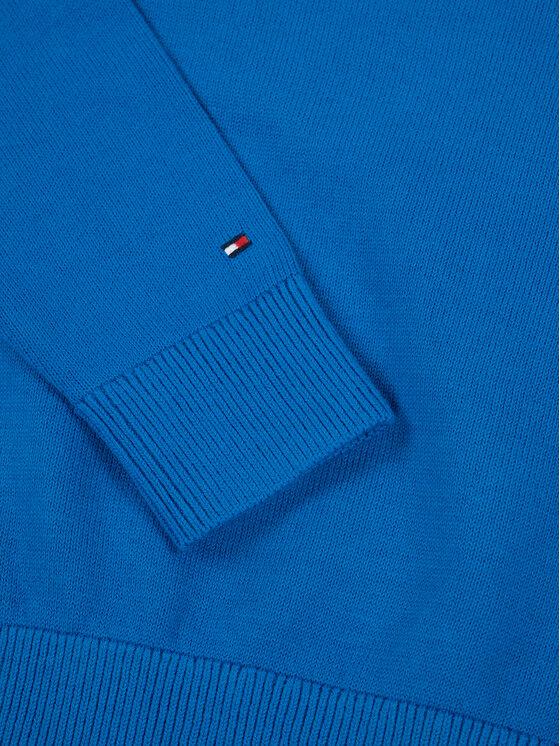 TOMMY HILFIGER TOMMY HILFIGER Szvetter Essential Logo KB0KB05447 D Kék Regular Fit