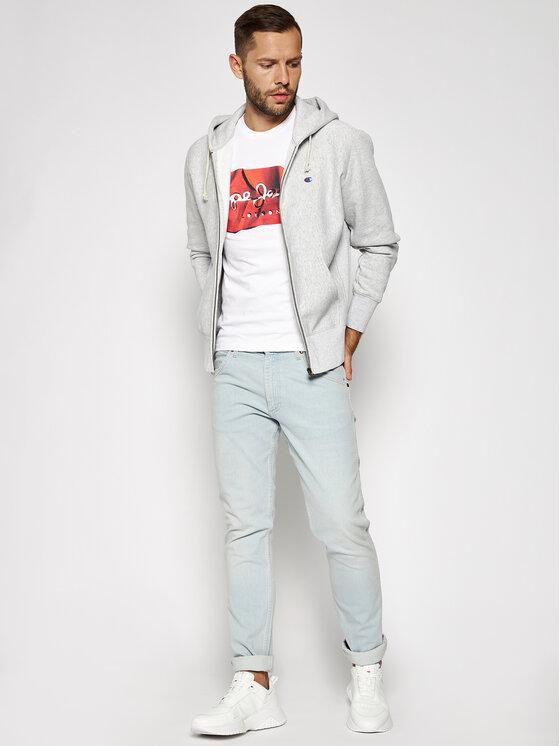 Pepe Jeans Pepe Jeans Tričko Raury PM506480 Biela Slim Fit