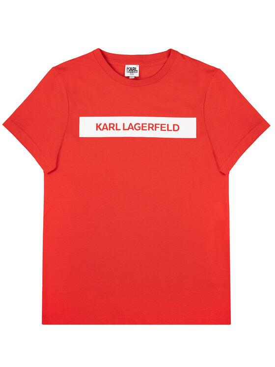 KARL LAGERFELD KARL LAGERFELD Тишърт Z25203 D Червен Regular Fit