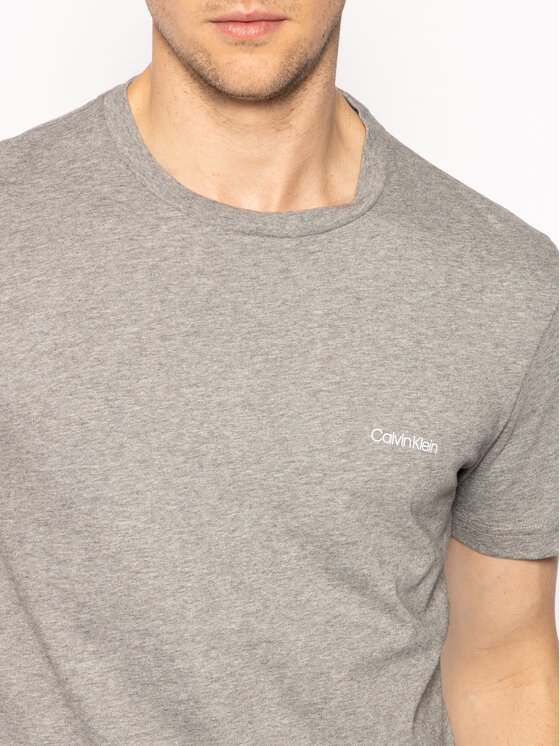 Calvin Klein Calvin Klein Тишърт Chest Logo K10K104062 Сив Regular Fit