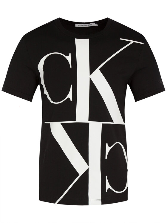 Calvin Klein Jeans Calvin Klein Jeans Тишърт Mirrored Monogram J20J212932 Черен Regular Fit