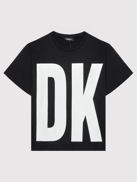 DKNY DKNY T-shirt D35R61 D Crna Regular Fit