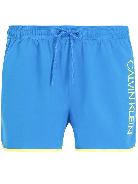 Calvin Klein Swimwear Calvin Klein Swimwear Szorty kąpielowe KM0KM00389 Niebieski Regular Fit