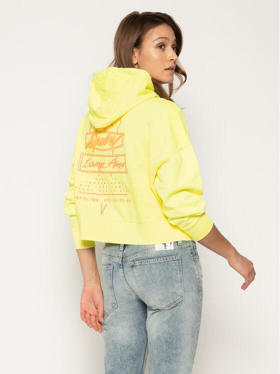 Guess Guess Bluza Gala W0GQ08 K9PK0 Żółty Loose Fit